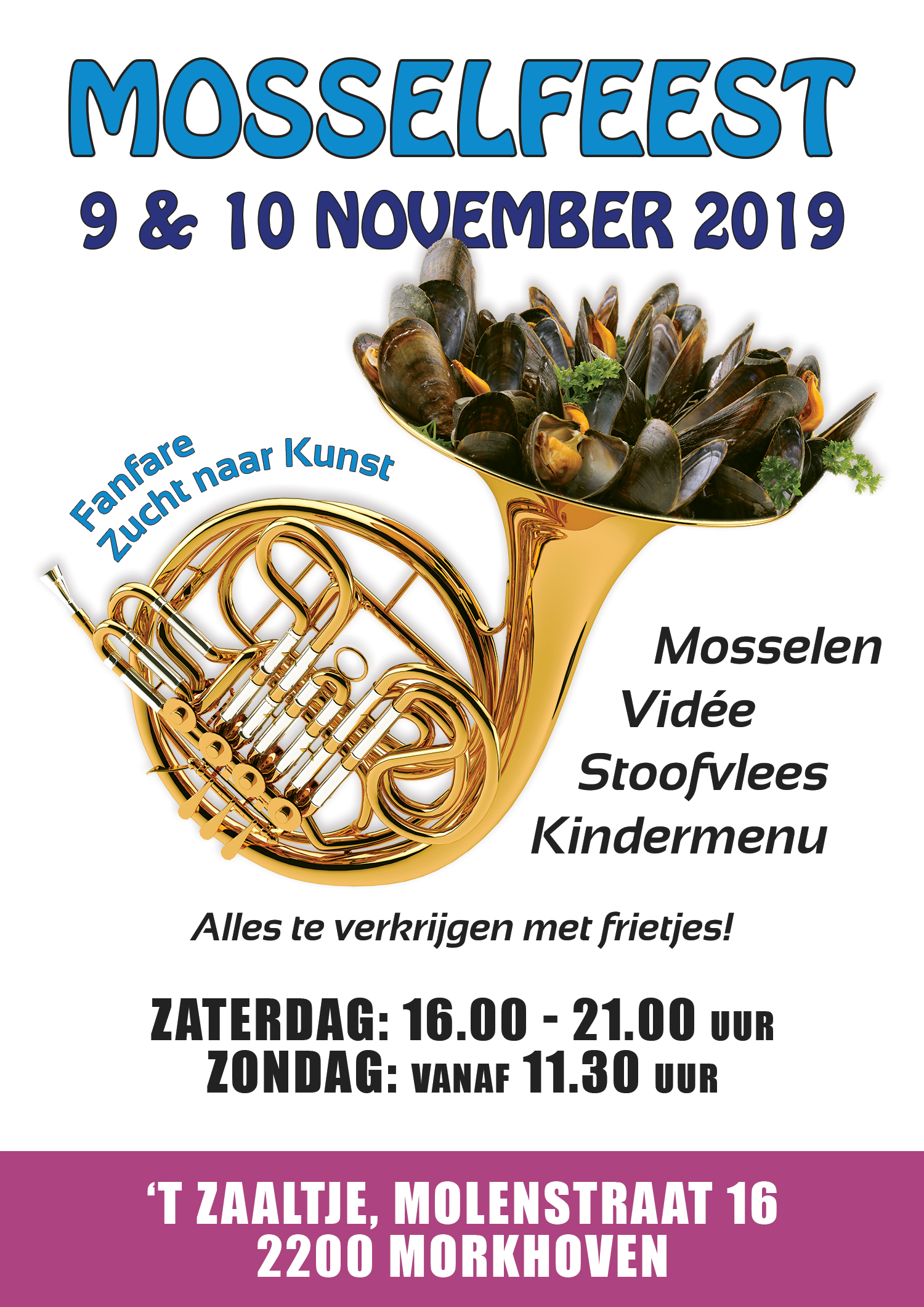 Flyer Mosselfeest 2019
